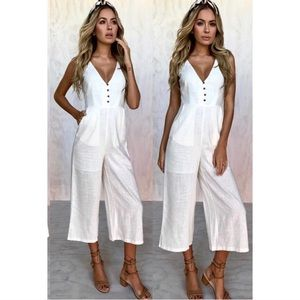 12th tribe Pants - Brand New 12th Tribe white crop jumpsuit